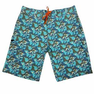 Grundens NWOT snook tarpon fish head men's fishing board shorts. Size 38
